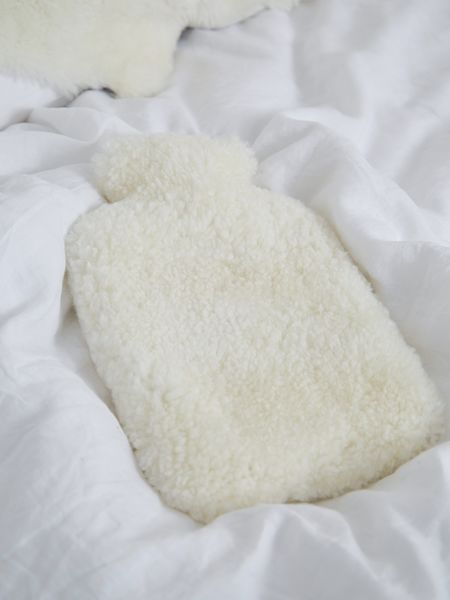 Luxurious Hot Water Bottle - Ivory