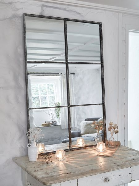 Loft Style Window Mirror Black Industrial Mirror 6
