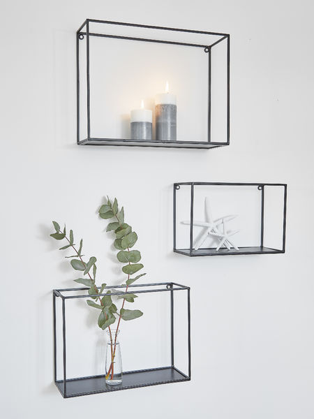 Metal Wall Rack Set