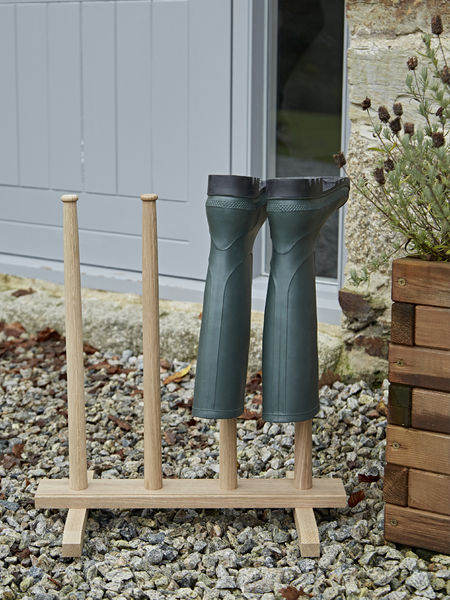 Oak Wellington Boot Stand