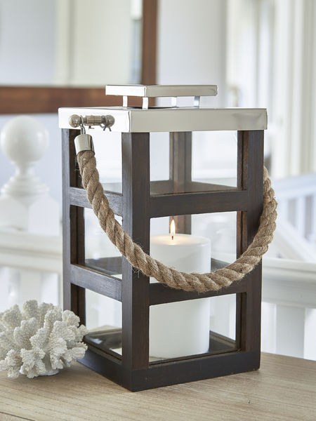 Stainless and Wooden Lantern