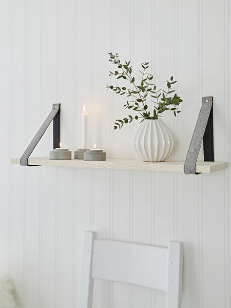 Contemporary Scandi Shelf - Grey/Dark Grey