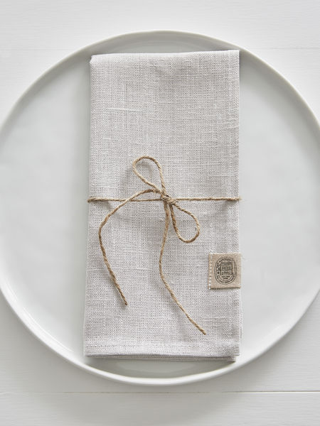 Light Grey Linen Napkins - Set of 2