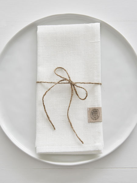 Off White Linen Napkins - Set of 2