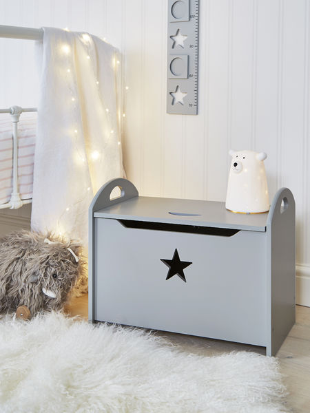 Star Toy Chest - Grey