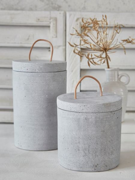 Concrete Jar with Lid