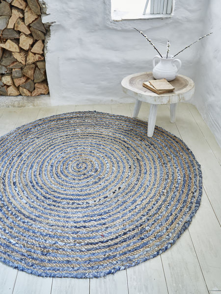 Jute & Indigo Cotton Rug