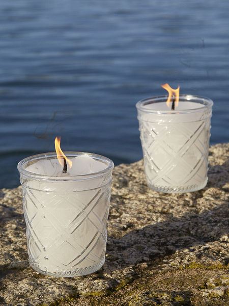 Glass Outdoor Candle  - Linear