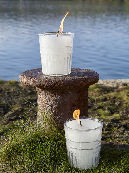 Glass Outdoor Candle - Pattern