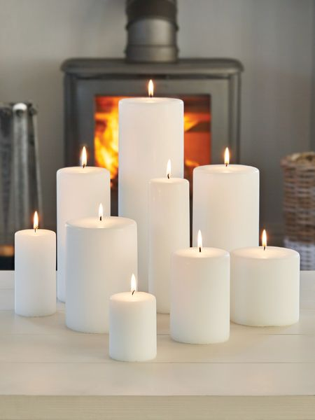 Pillar Candles Scandi Style Nordic House
