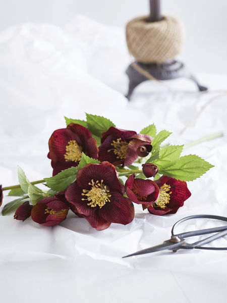 Faux Red Christmas Rose