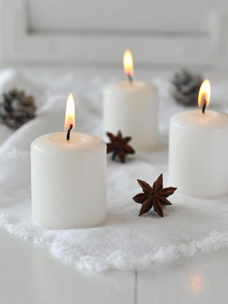 Small White Candle