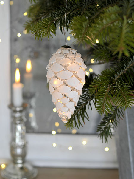 Glass LED Pine Cone - L