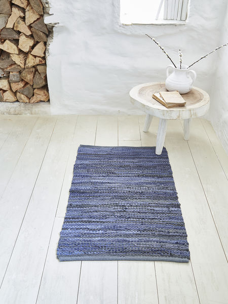 Cotton and Leather Rug - 60x90cm