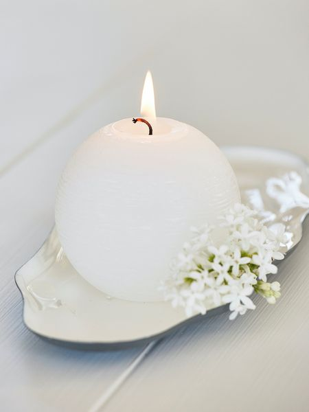 White Ball Candle