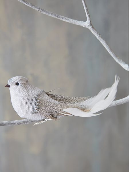 White Bird Tree Ornament