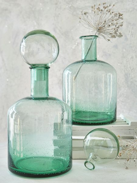 Retro Glass Bottle - Large