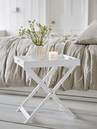 White Butler Tray Table