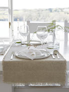Natural Frayed Edge Linen Table Runner