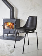 Leather Dining Chair - Black