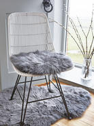 Luxurious Sheepskin Seat Cover - Grey