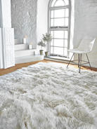 Luxurious XL Sheepskin Rug - Linen
