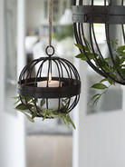 Rusty Cage Tealight Hurricane