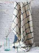 Tie-Dyed Velvet Quilted Throw - Narrow Stripe