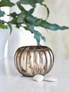 Antiqued Pumpkin Tealight Holder