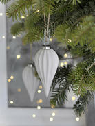 Elegant White Porcelain Bauble