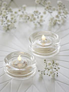 Glass LED Tealight Set