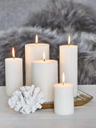 Pure Stearin Pillar Candles