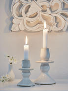 Vintage Ceramic Candle Holder Set