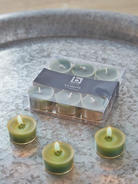 Sea Green Clear Cup Tealights
