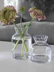 Glass Jar Vase - Low
