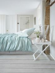 Artisan Linen Bed Set - Soft Mint