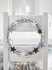 Metal Wreath with Stars