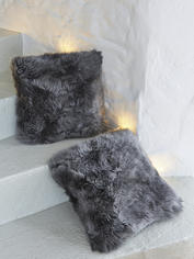 Luxurious Sheepskin Cushion - Grey