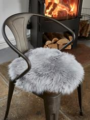 Luxurious Sheepskin Seat Cover - Light Grey