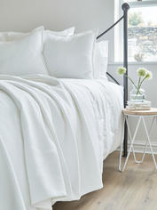 Luxury Quilted Bedspread - Diamond White