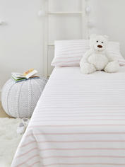 Yarn-Dyed Kids Bed Set - Pink