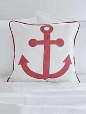 Anchor Cushion - Red