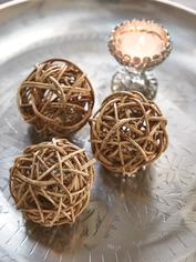 Decorative Rattan Sphere Set