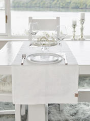 Double Linen Table Runner - Off White