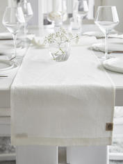 Long Linen Table Runner - Off White