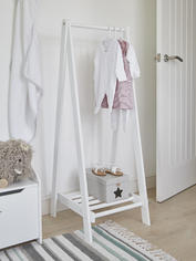 White Wooden Clothes Rail