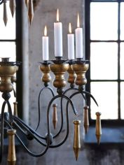 Gold Candle Chandelier