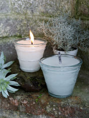 Glass Outdoor Candle Pots