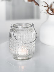 Hanging Glass Tealight Set - Clear