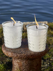 Glass Outdoor Candle - Teardrop